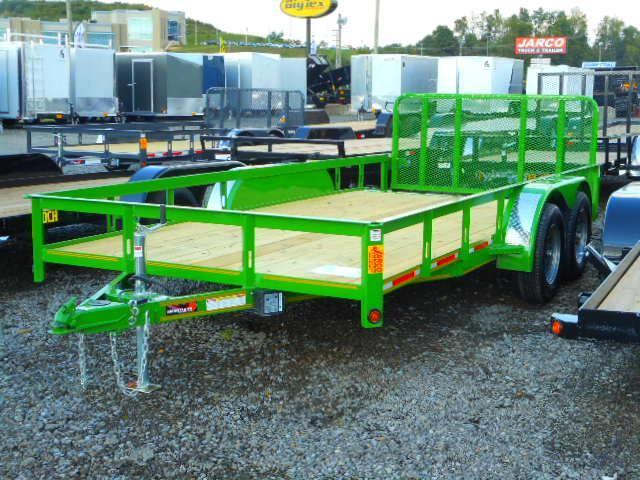 2018 Heartland 7x16 Tandem Axle with Dovetail Utility Trailer