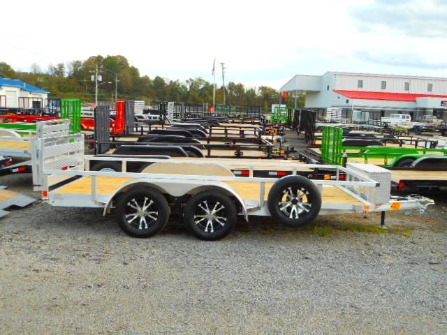 2019 H and H Trailer 82x14 Tandem Axle Railside Aluminum Utility Trailer