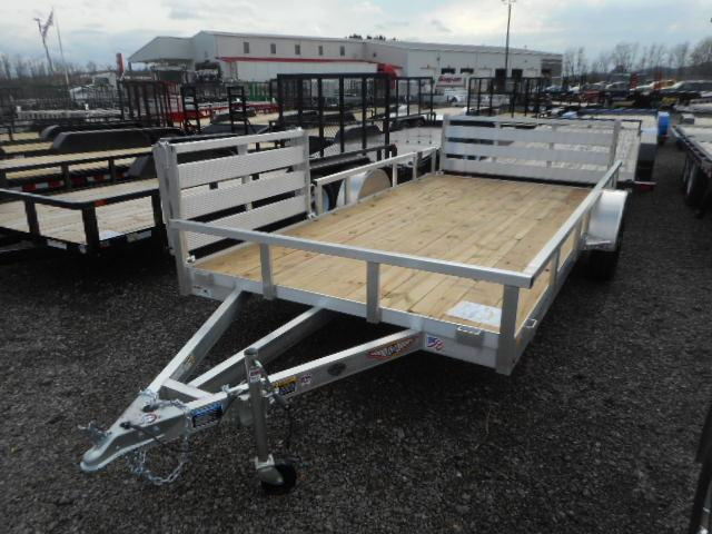 2018 H and H Trailer 82x14 Railside Aluminum with Sidegate 3K Utility Trailer