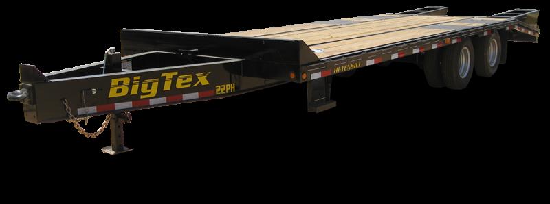 2019 Big Tex Trailers 22PH 102''x20+5 With Mega Ramps Equipment Trailer