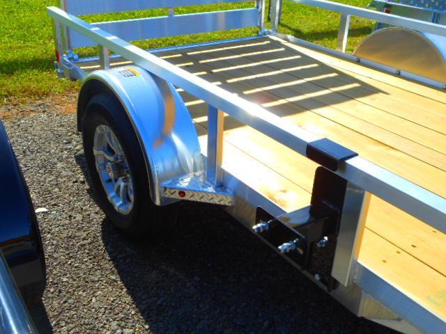 2019 H and H Trailer 66x10 Single Axle Railside Aluminum Utility Trailer