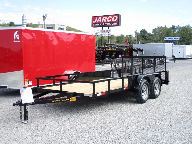 2019 Griffin 76 X 12+2 Tandem Axle Utility Trailer