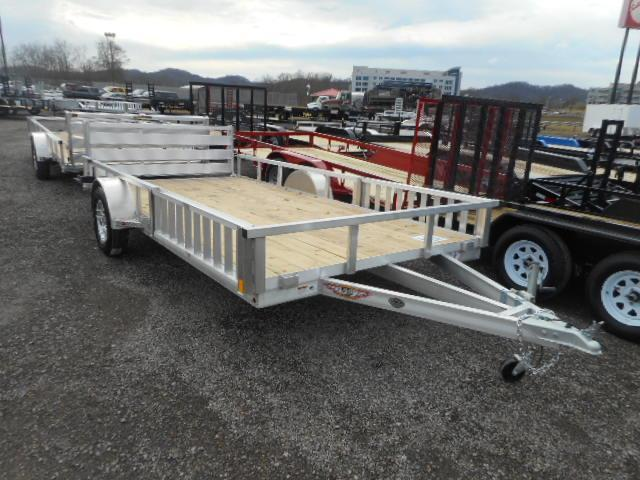 2018 H and H Trailer 82x14 Railside Aluminum ATV 3K ATV Trailer