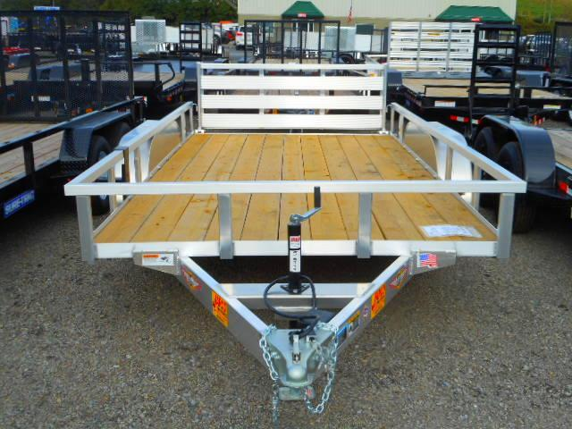 2019 H and H Trailer 82x14 Tandem Axle Railside Aluminum Utility Trailer