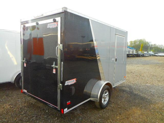 2018 Bravo Trailers 6x12 Single Axle Scout with V-Nose - Extra Height and Ramp Door