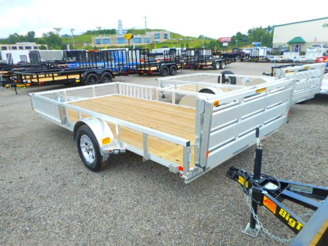 2018 H and H Trailer 82x14 Railside Aluminum ATV Trailer