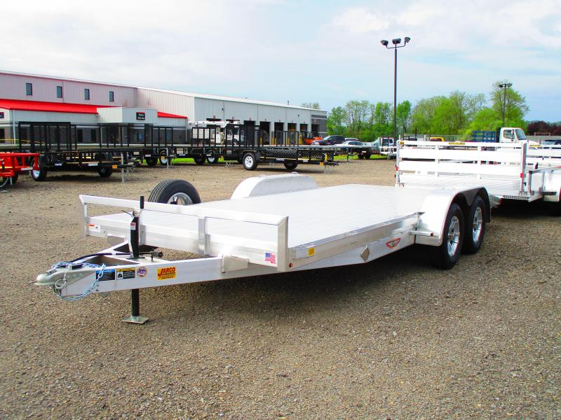 2019 H and H Trailer 82 X 16+2 Aluminum Heavy Duty Car / Racing Trailer
