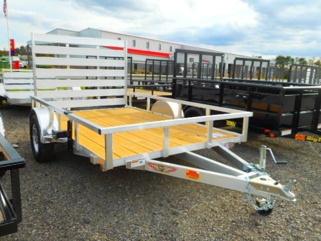 2019 H and H Trailer 76x10 Railside Aluminum Utility Trailer