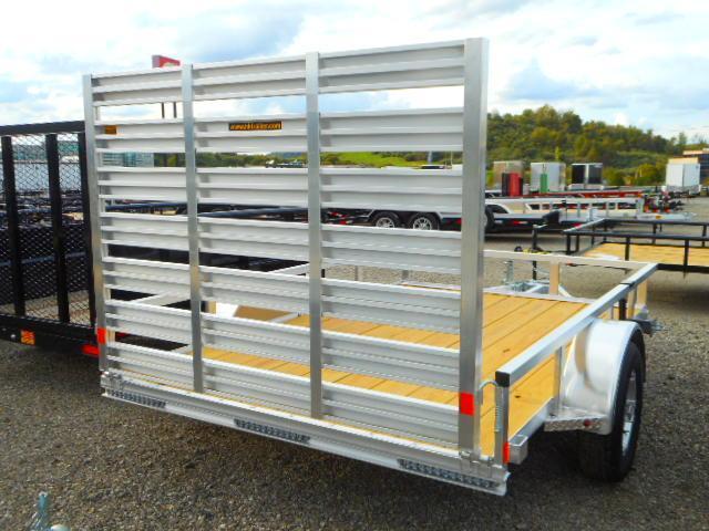 2019 H and H Trailer 76x10 Railside Aluminum Utility Trailer