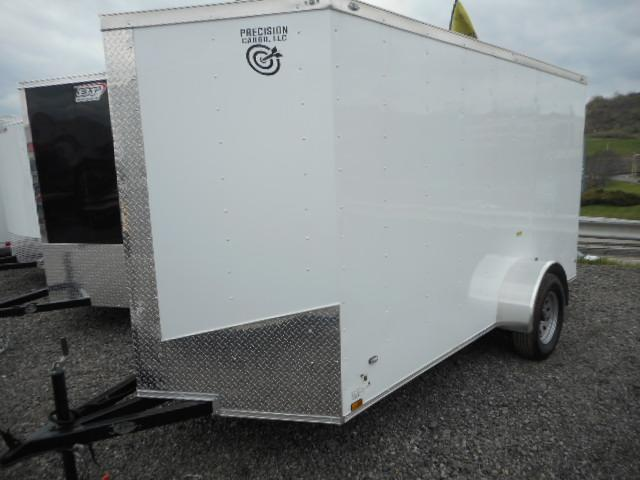 2018 Precision 6x12 Single Axle with Ramp Door Enclosed Cargo Trailer