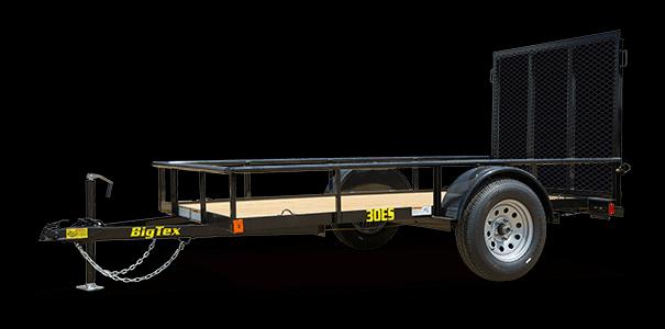 2019 Big Tex Trailers 30ES 5X8 Single Axle Economy Utility Trailer