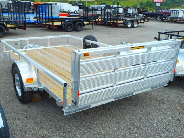 2018 H and H Trailer 76x12 Railside Aluminum Utility Trailer