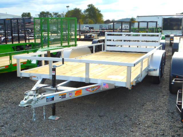 2019 H and H Trailer 82x16 Tandem Axle Railside Aluminum Utility Trailer