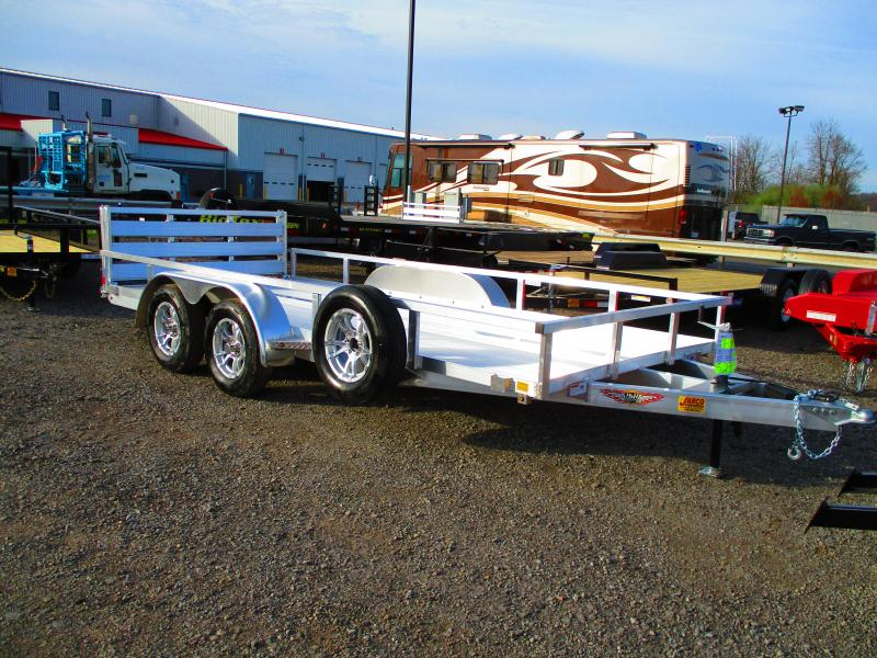 2019 H and H Trailer 82 X 16 Tandem Axle Utility Trailer