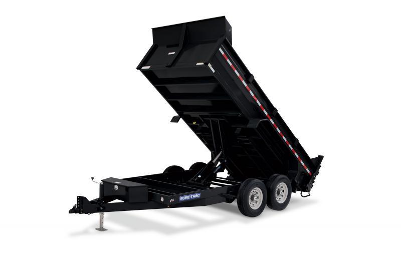 2020 Sure-Trac 82x16 16K HD Low Profile Dump (Scissor Hoist) Dump Trailer