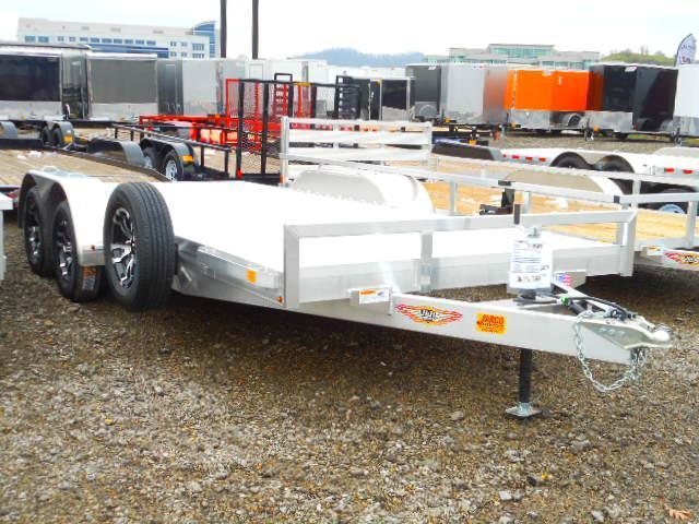 2019 H and H Trailer 82 X 16 + 2 Aluminum Car / Racing Trailer