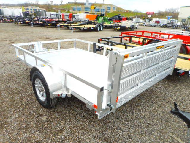 2018 H and H Trailer 76x10 Railside Aluminum with Extruded Deck Utility Trailer