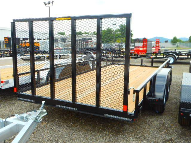 2018 H and H Trailer 7x16 Rail Side Tandem Axle Utility Trailer
