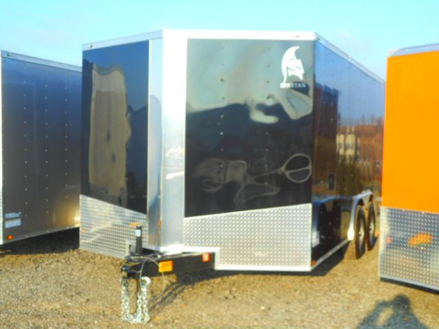 Used 2019 Spartan 8.5 X 16 Tandem Axle Enclosed Cargo Trailer