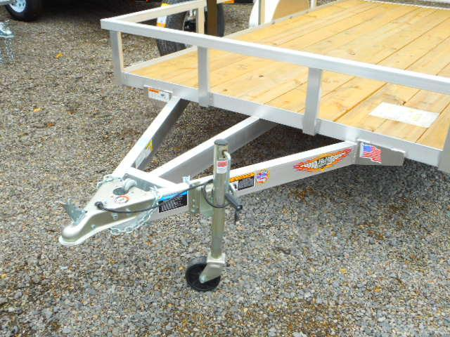 2019 H and H Trailer 76 X 12 Railside Aluminum Utility Trailer