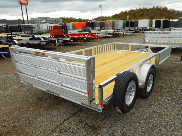 2019 H and H Trailer 82 X 14 Railside Aluminum ATV Trailer