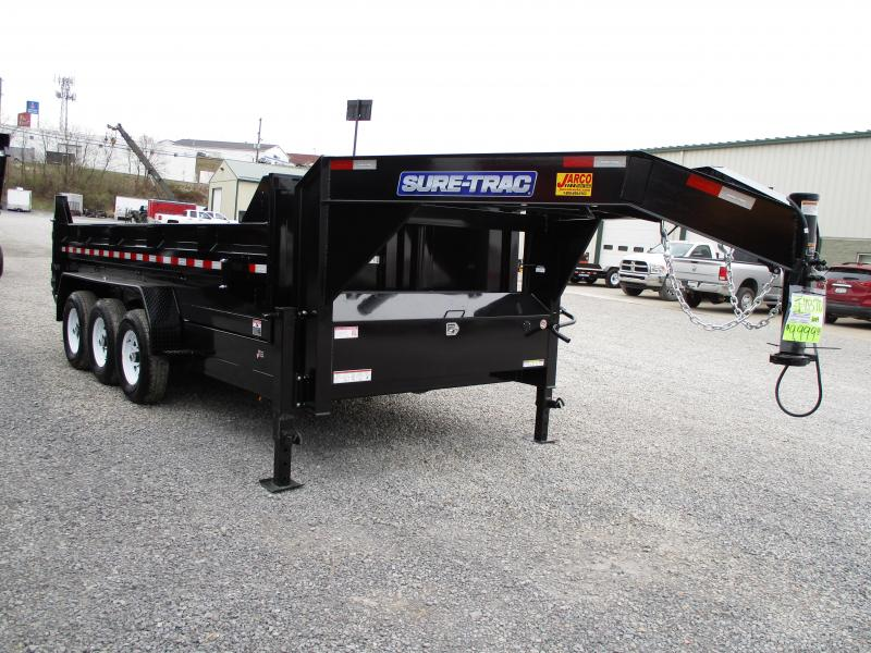 2019 Sure-Trac 82 IN X 16 LProfile 21K Gooseneck Dump