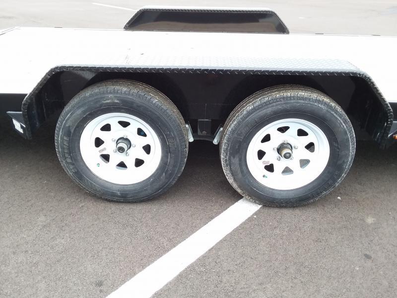 2019 Sure-trac 7' X 20' Wood Deck 10k