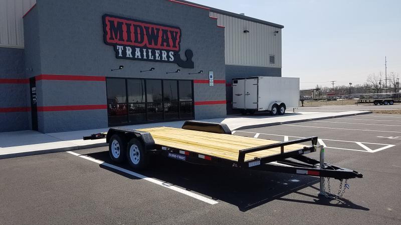 2019 Sure-trac 7' X 18' Wood Deck Ch 7k