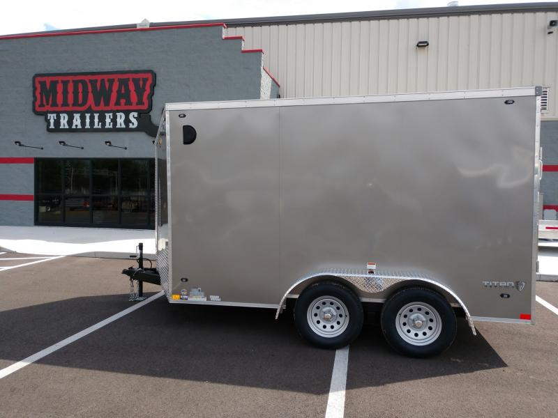 2019 Stealth 7 X 12 Pewter Enclosed 7k