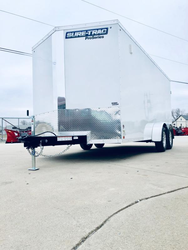 2019 Sure-trac 7x16 Psw 7k White Barn Doors