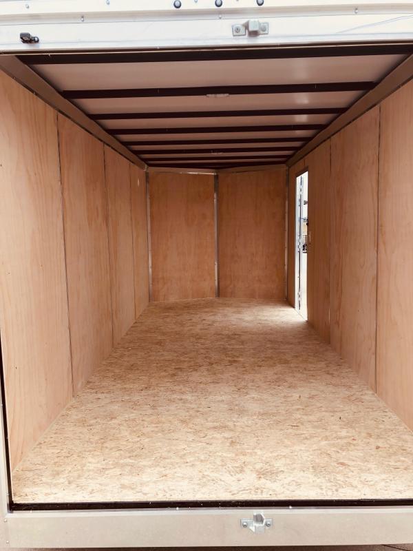 2019 Sure-trac 7x16 Psw 7k White Barn Doors
