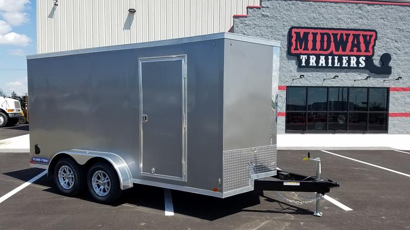 2019 Sure-trac 7' X 14' Enclosed 7k Pewter