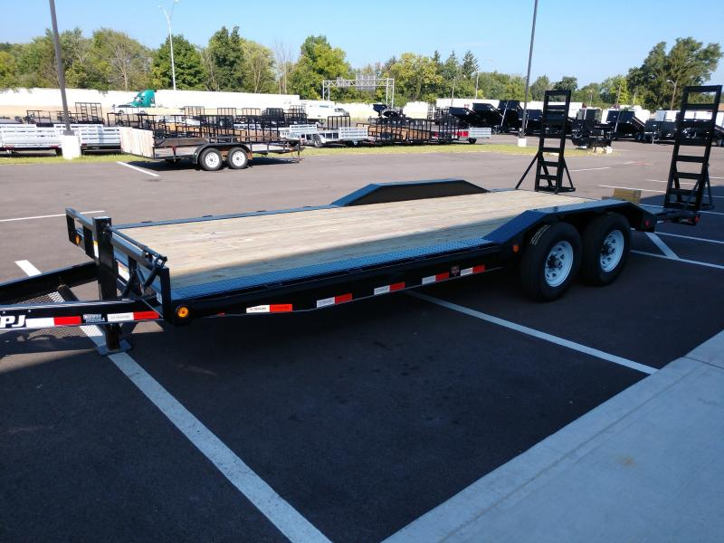 "2019 Pj Trailers 7'x20' 6"" Super Wide Imp. 14k"