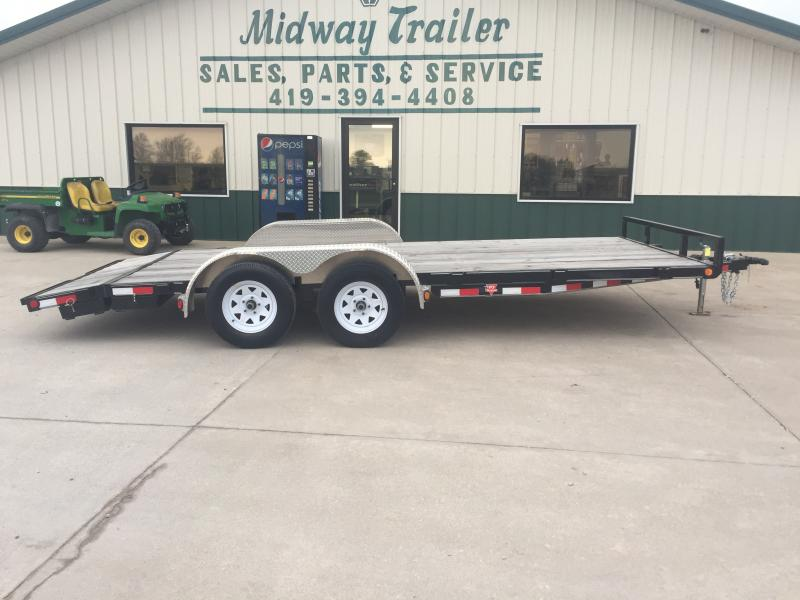 2019 Pj Trailers 7 X 18 Wood Deck 7k