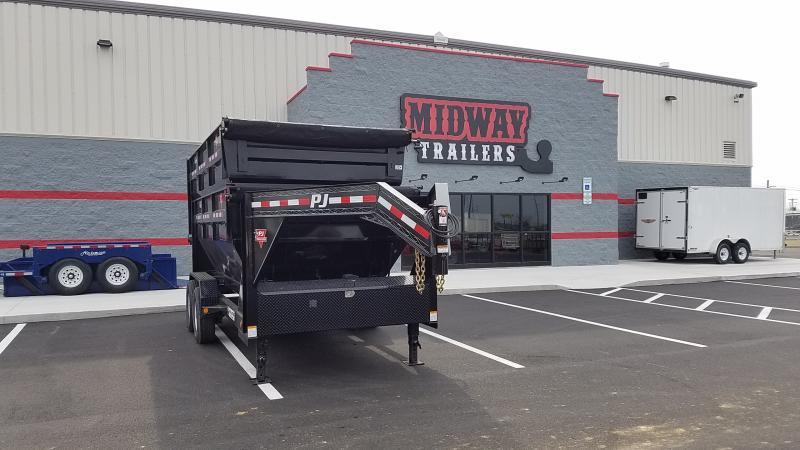 2019 Pj Trailers 7'x 14' Gn Rollster Dump