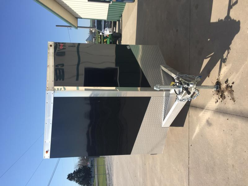 2018 One Trailers 7x16 Black One Enclosed