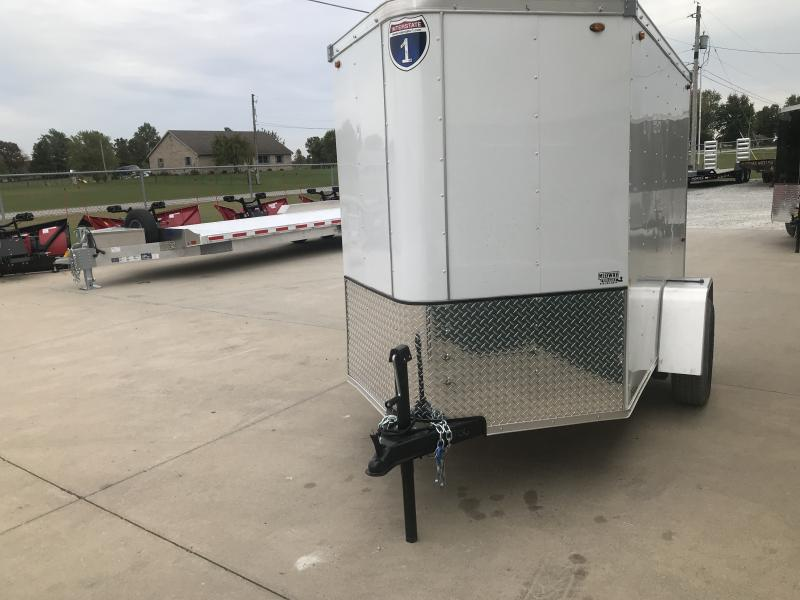 2019 Interstate 5 X 8 White Enclosed