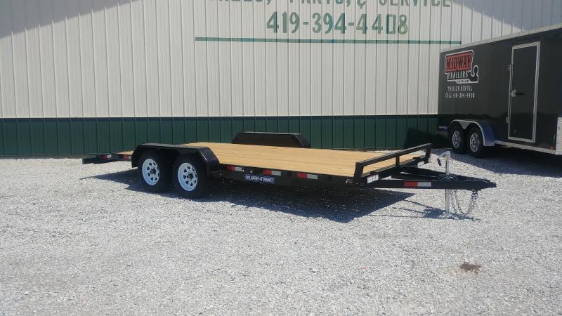 2019 Sure-trac 7'x16' Wood Deck Ch 7k