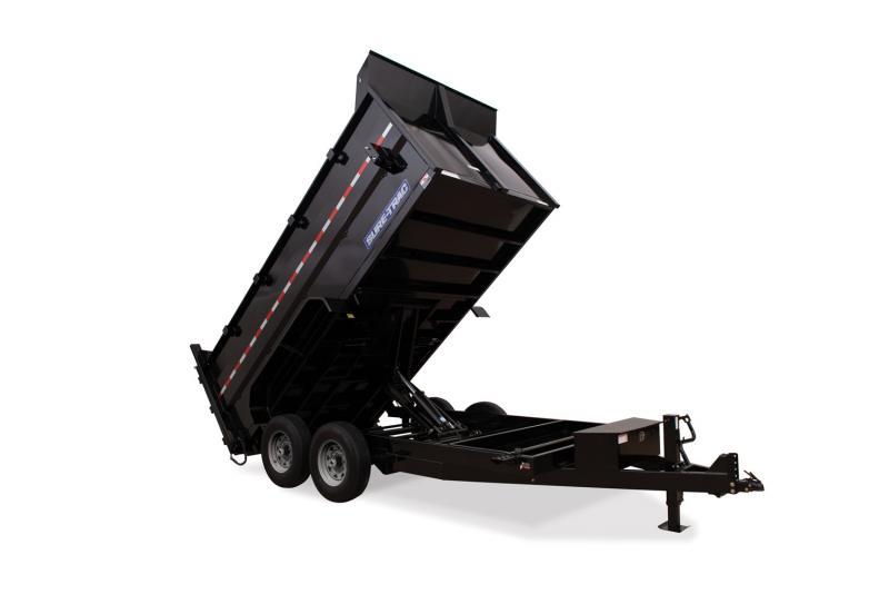 2019 Sure-trac 7x14 Dump 14k Tele 4' Sides