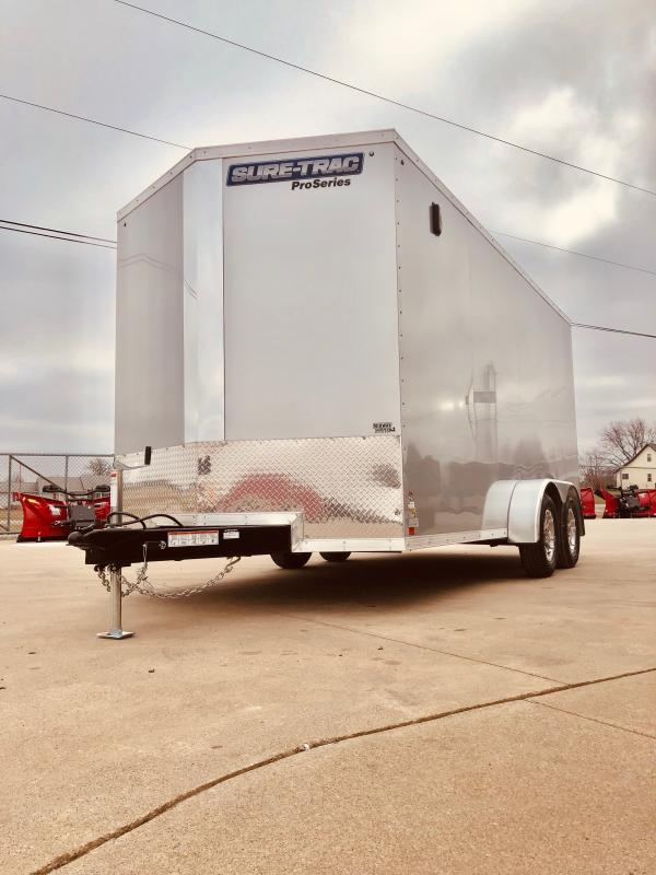 "2019 Sure-trac 7x16 Psw 7k Silver +6"" Extra Height"