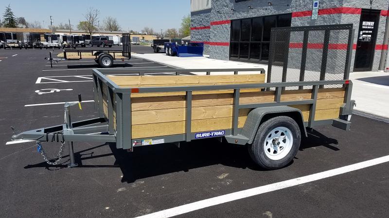 2018 Sure-trac 6'x10' Three Board - Gray