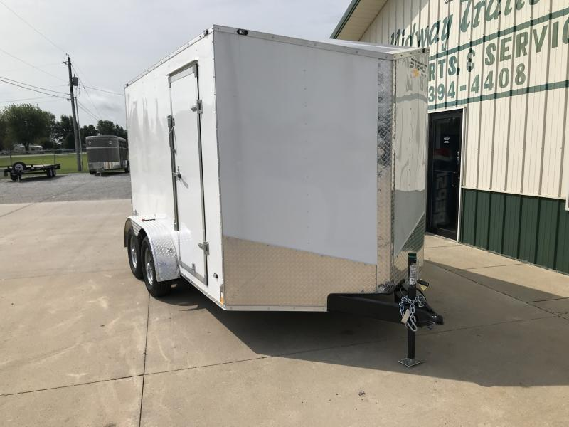 2019 Stealth 7x12 Mustang 7k White 6' Interior Height