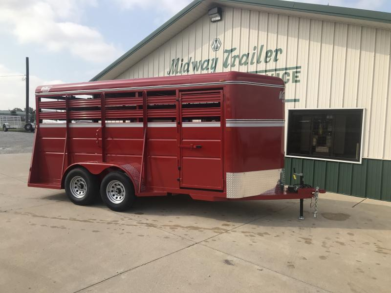 2019 Valley 6x16 Livestock 7k Red