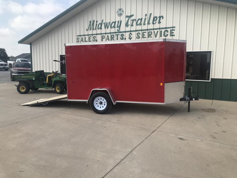 2019 Interstate 5 X 10 Red Enclosed