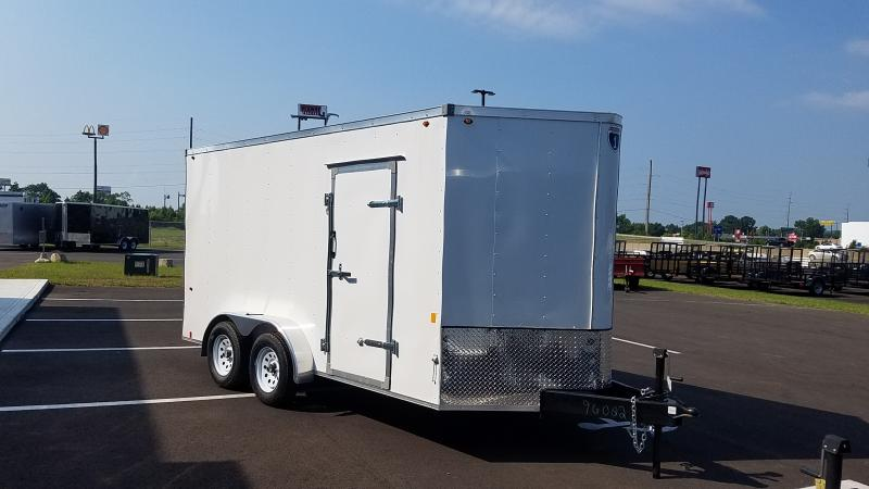 2019 Interstate 7' X 14' Enclosed White
