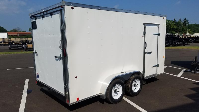 2019 Interstate 7'x14' Enclosed White