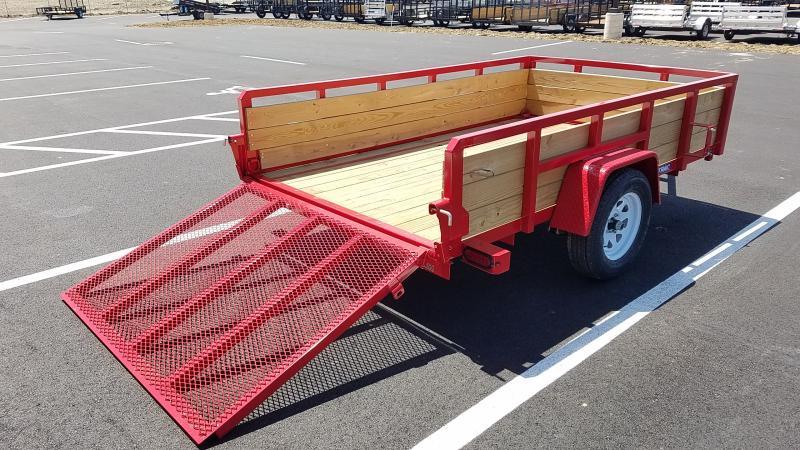 2018 Sure-trac 6'x10' Three Board - Red