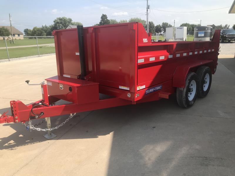 2018 Sure-trac 7x12 Dump 12k Tele Red