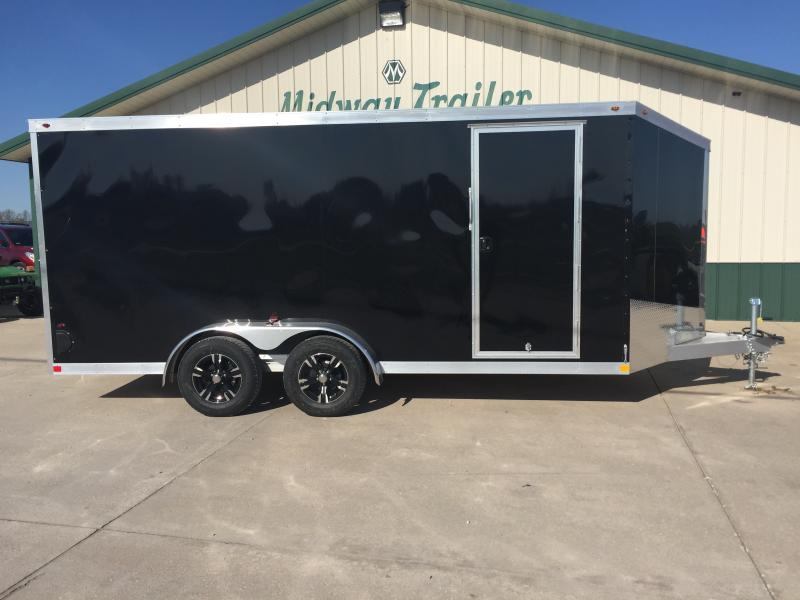 2018 One Trailers 7 X 16 Black One Enclosed
