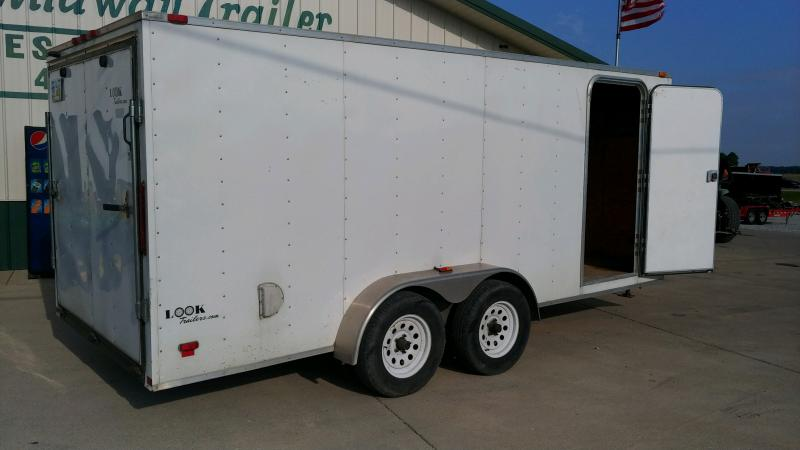 2011 Look 7x16 Enclosed 7k White